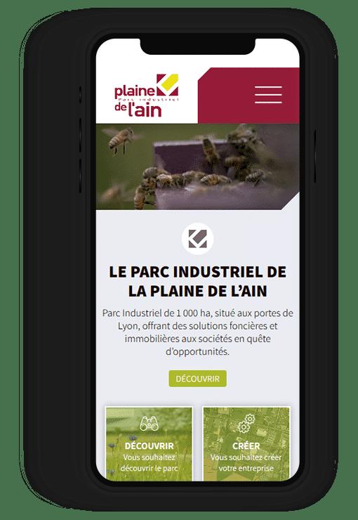 Site internet responsive La plaine de l'Ain